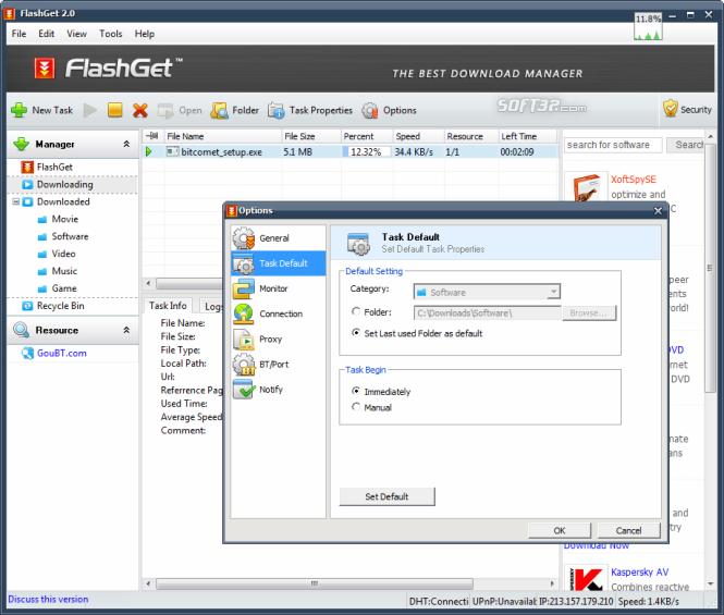 13 دانلود FlashGet 3.7.0.1220 نرم افزار مدیریت دانلود