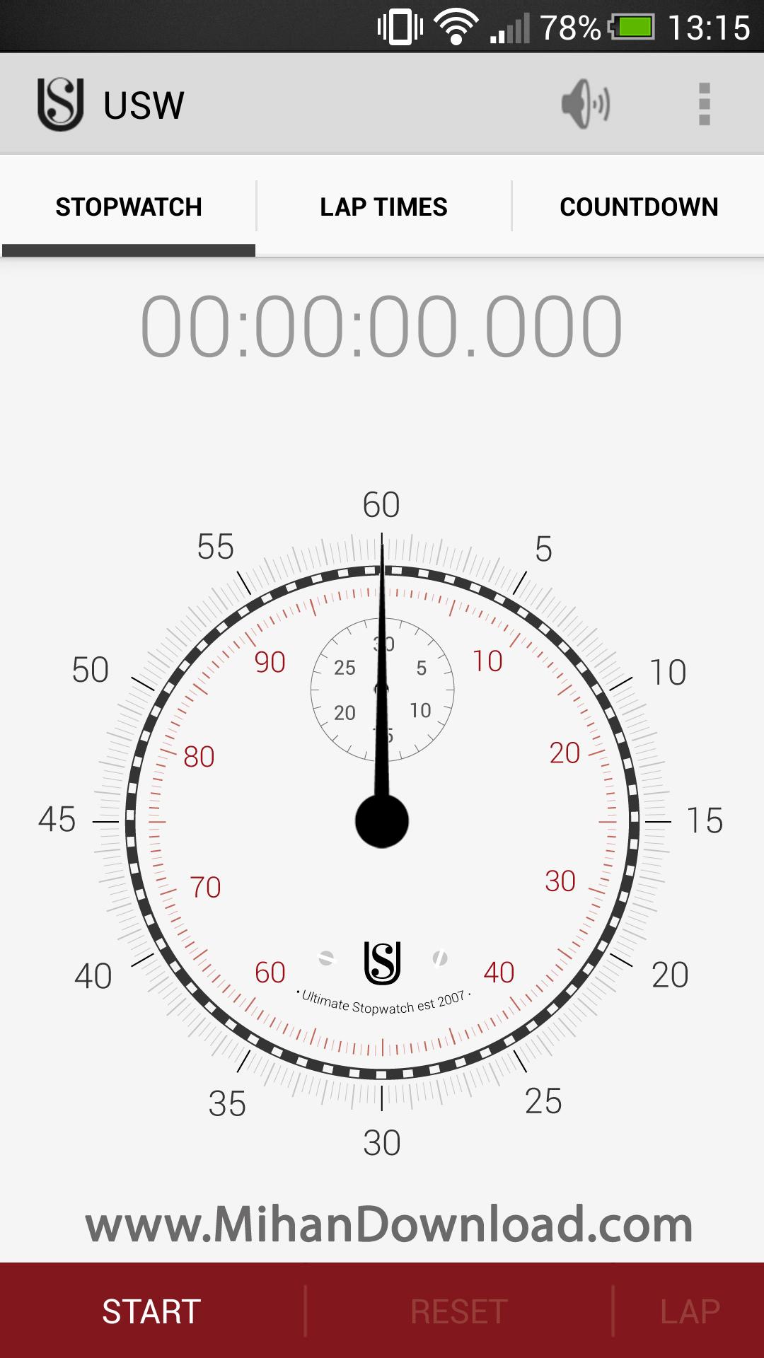 1376641437 2013 08 14 13.15 دانلود نرم افزار Ultimate Stopwatch and Timer   اندروید