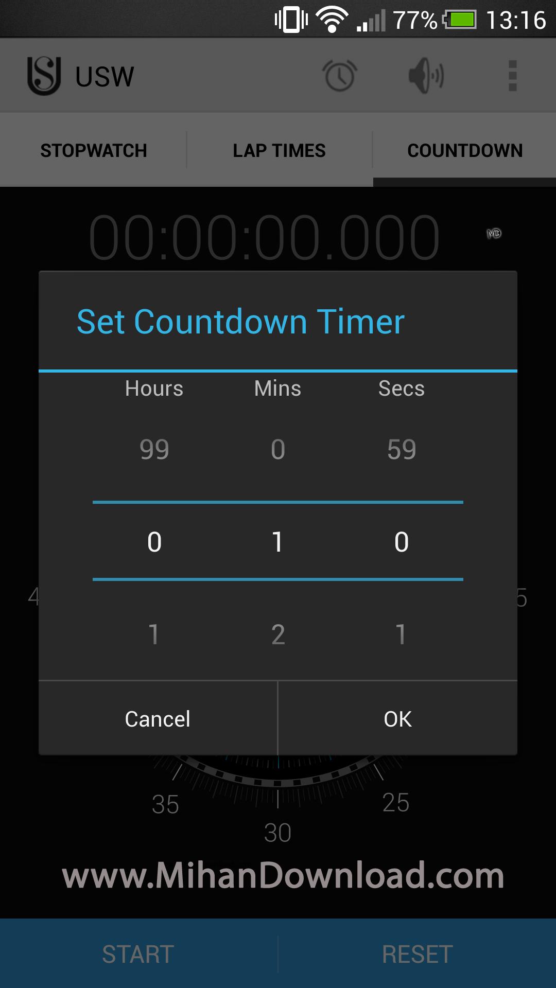 1376641479 2013 08 14 13.16 دانلود نرم افزار Ultimate Stopwatch and Timer   اندروید
