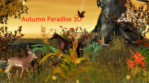 1379918124 autumn2shot دانلود اسکرین سیور بهشت پاییزی Autumn Paradise 3D Screensaver and Wallpaper v1 0