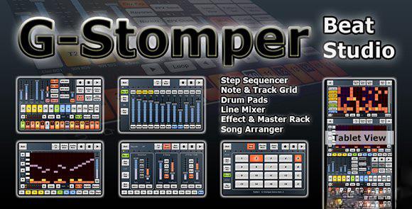 1394985349 g stomper beat studio دانلود نرم افزار استدیو ساخت موزیک برای آندروید G Stomper Studio 5.3.0.1
