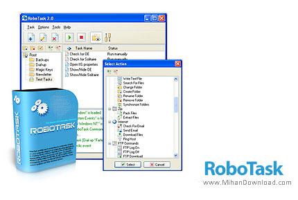 دانلود RoboTask v6.9.0.925 نرم افزار اجرای اتوماتیک کارها در کامپیوتر