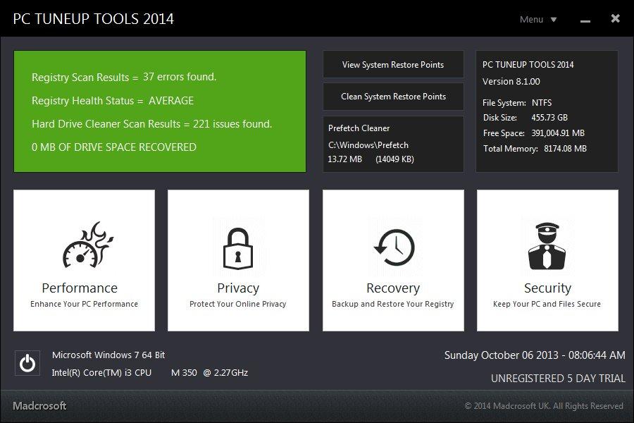 15 دانلود Madcrosoft PC TuneUp Tools 2014 8 1 003 نرم افزار بهینه سازی