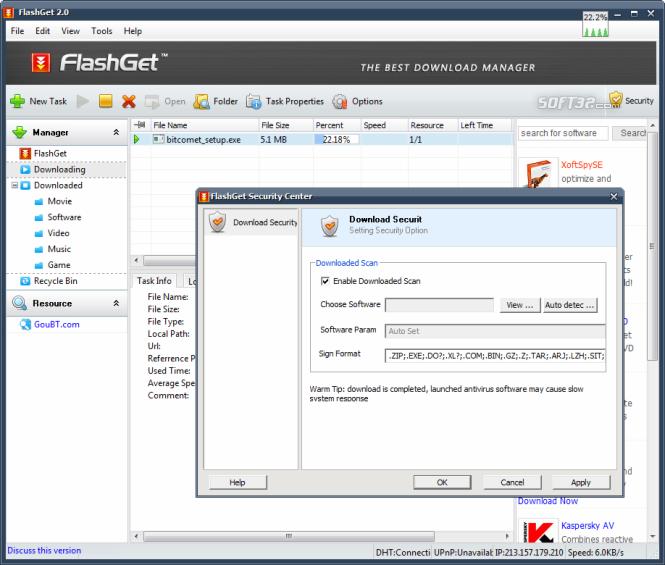 23 دانلود FlashGet 3.7.0.1220 نرم افزار مدیریت دانلود