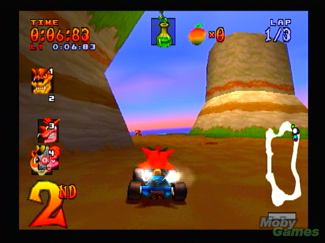 278653 ctr crash team racing playstation screenshot zooming along دانلود بازی های PS1 برای کامپیوتر : Crash Bandicoot 4