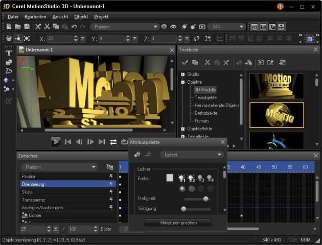 299e0f3043211d14 دانلود نرم افزار طراحی سه بعدی Corel Motion Studio 3D 1 0 0