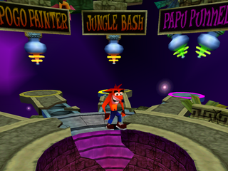 304399 crash bash playstation screenshot first warp rooms دانلود بازی های PS1 برای کامپیوتر : Crash Bandicoot 5