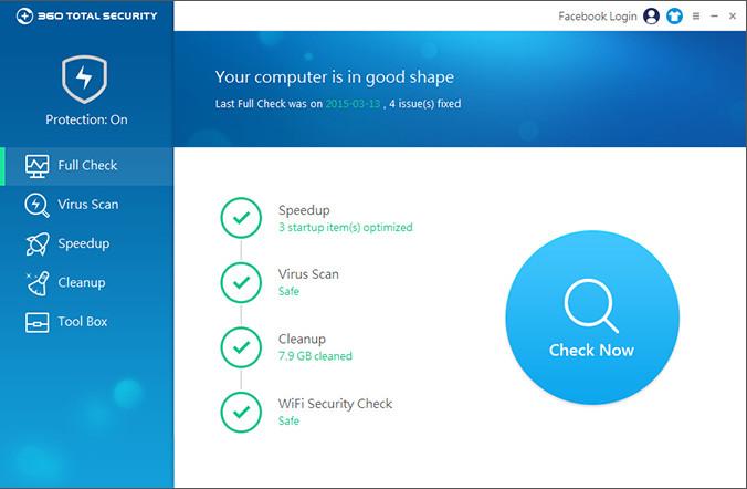 360 Total Security  دانلود 360Total Security 7.6.0.1028 نرم افزار آنتی ویروس