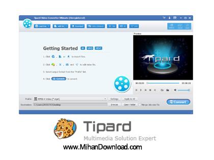 4K UHD Converter دانلود نرم افزار مبدل فایل های ویدئویی با کیفیت بالای 4K Tipard 4K UHD Converter v9.2.16