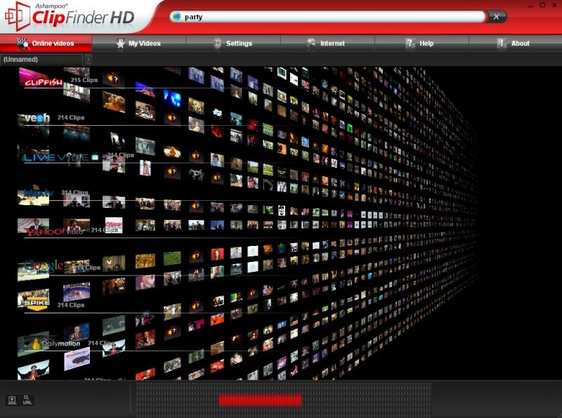 55557 نرم افزار دانلود از سایت های پخش آنلاین  Ashampoo ClipFinder HD 2 3 5