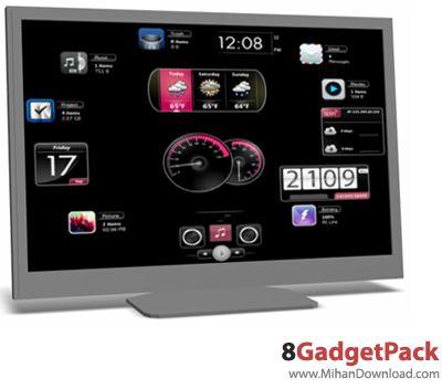 8GadgetPack 11.0 8GadgetPack گجت های کاربردی برای ویندوز8