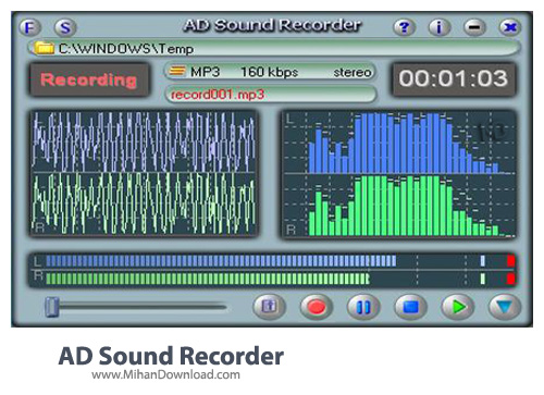 AD Sound Recorder نرم افزار ضبط صدا AD Sound Recorder 5 5 2
