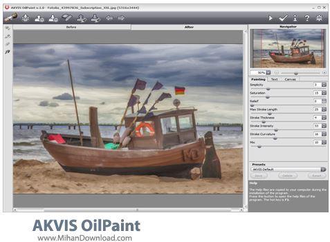 AKVIS OilPaint نرم افزار تبدیل عکس به نقاشی AKVIS OilPaint 2 0
