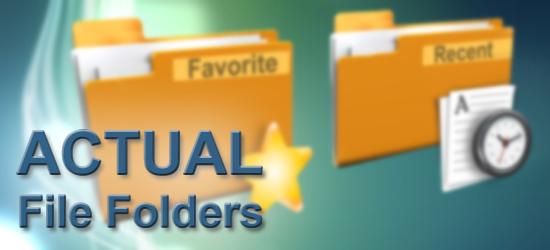 Actual  دانلود Actual File Folders 1.5.1 نرم افزار دسترسی سریع به پوشه ها