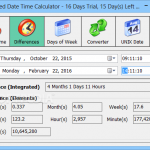 Advanced Date Time Calculator 2 150x150 دانلود Advanced Date Time Calculator محاسبه زمان سپری شده از یک تاریخ