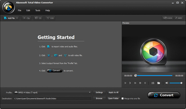 Aiseesoft Total Video Converter screenshot دانلود Aiseesoft Total Video Converter 9.0.6 نرم افزار تبدیل فرمت ویدیو