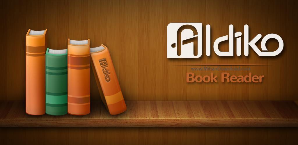 Aldiko icon 1024x500 دانلود نرم افزار کتاب خوان آلدیکو برای آندروید