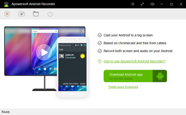 Apowersoft Android Recorder دانلود نرم افزار ضبط فعالیت های اندروید در ویندوز