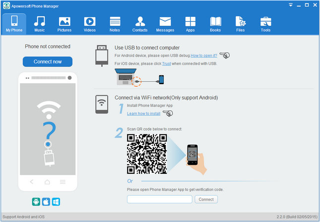 Apowersoft Phone Manager دانلود Apowersoft Phone Manager PRO 2.6.0 نرم افزار مدیریت دستگاه ای او اس و اندروید