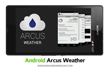 Arcus Hyper Local Weather نرم افزار هواشناسی Arcus Weather برای آندروید