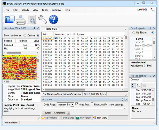 Binary View دانلود نرم افزار ویرایش فایل های باینری