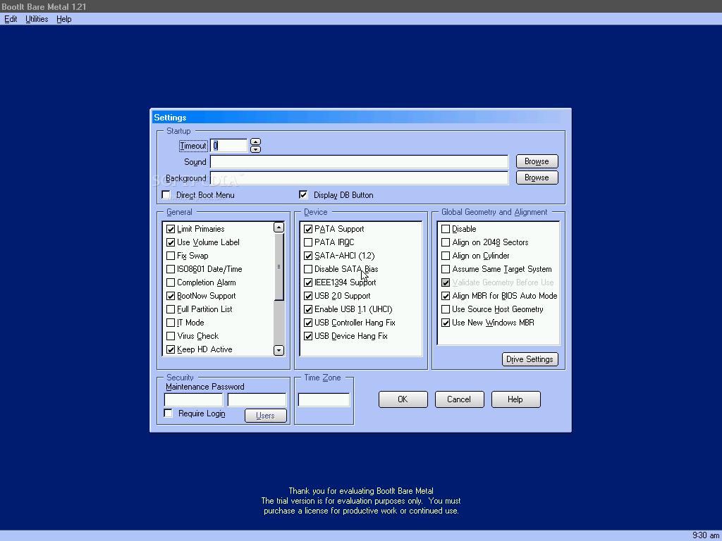 BootIt Next Generation 5 نرم افزار مدیریت بوت سیستم عامل BootIt Bare Metal 1 26 Retail