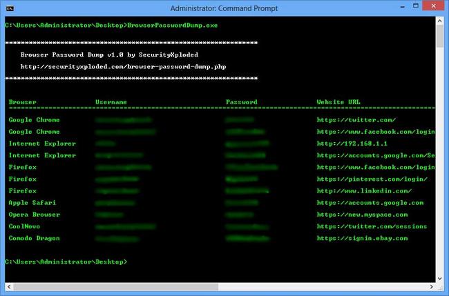 Browser Password Dump دانلود Browser Password Dump 5.0 Final نرم افزار بازیابی رمز های پاک شده مرورگر