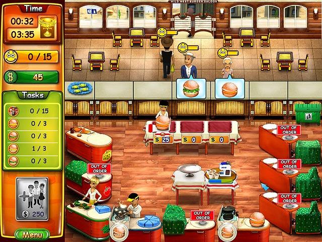 Burger Bustle screen دانلود بازی Burger Bustle 2 برای کامپیوتر
