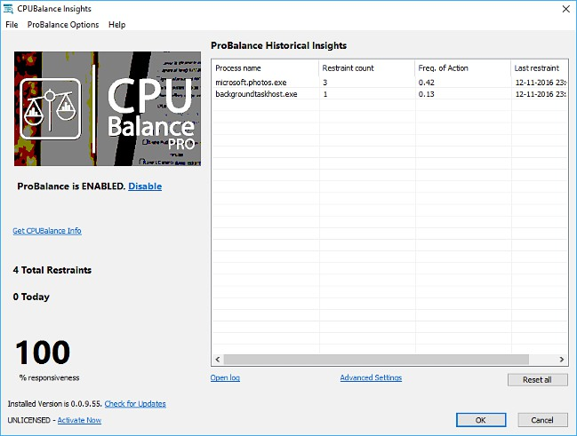 CPUBalance دانلود نرم افزار مدیریت پردازنده