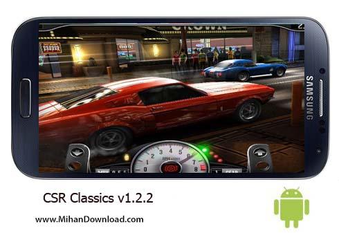 CSR Classics v1.2 دانلود بازی اتومبیل های کلاسیک CSR Classics   اندروید