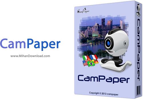 CamPaper نرم افزار قراردادن تصویر وب کم برای والپیپر دسکتاپ CamPaper v4 202