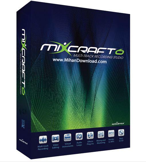 Capture12 دانلود Acoustica Mixcraft 6 1 Build 217 نرم افزار ویرایش فایل های صوتی