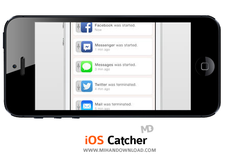 Catchr1 نرم افزار ثبت فعالیت ها Catchr برای آیفون