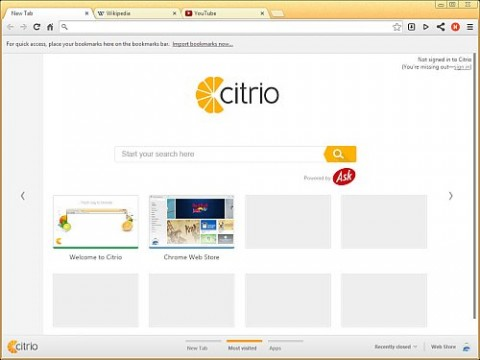 Citrio e1422107487125 دانلود نرم افزار مرورگر Citrio 39.0.2171.248