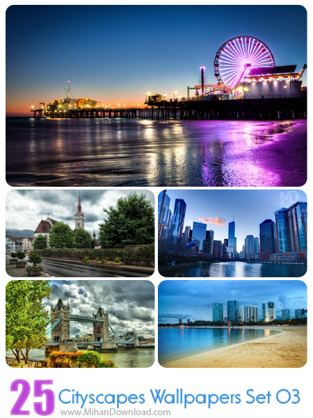 Cityscapes Wallpapers Set 03 دانلود مجموعه عکس شهرها Cityscapes Wallpapers Set 03