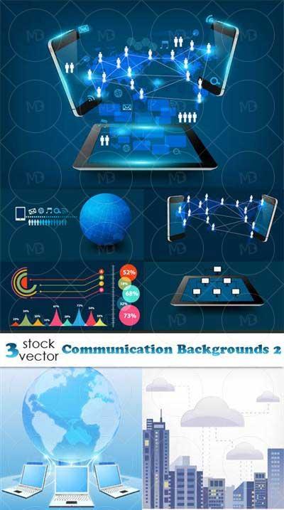 Communication Backgrounds دانلود وکتور شبکه های ارتباطی Communication Backgrounds