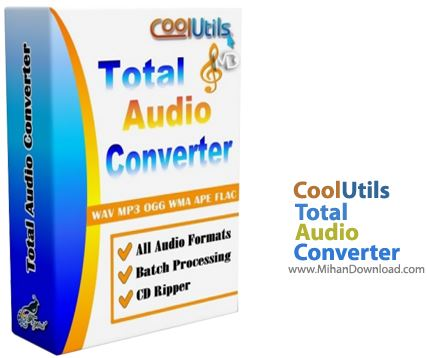 CoolUtils Total Audio Converter نرم افزار تبدیل فرمت های صوتی CoolUtils Total Audio Converter 5 2 0 84