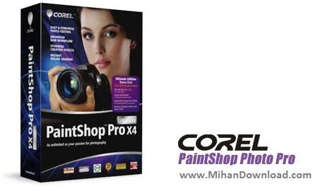Corel PaintShop Photo Pro X4 v14.0.0.332 دانلود Corel PaintShop نرم افزار ویرایش تصاویر