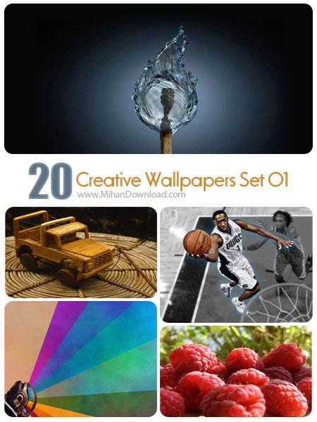Creative Wallpapers Set 01 دانلود Creative Wallpapers Set 01 مجموعه اول از تصاوير خلاقانه