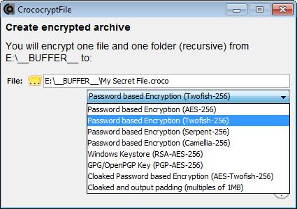CrococryptFile دانلود نرم افزار رمزگذاری فایل ها