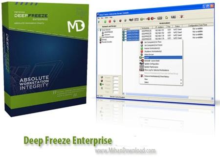 Deep Freez دانلود Faronics Deep Freeze Server Enterprise 8.23.270.4837 نرم افزار باز گردانی کامپیوتر به حالت اولیه