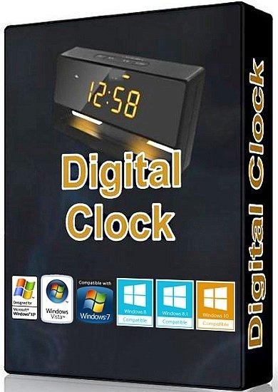 Digital Clock دانلود ساعت دیجیتالی برای دسکتاپ ویندوز