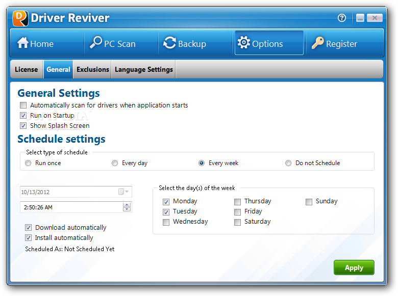 Driver Reviver 6 دانلود  Driver Reviver 4 0 1 76 نرم افزار اسکن و بروز رسانی درایورهای ویندوز