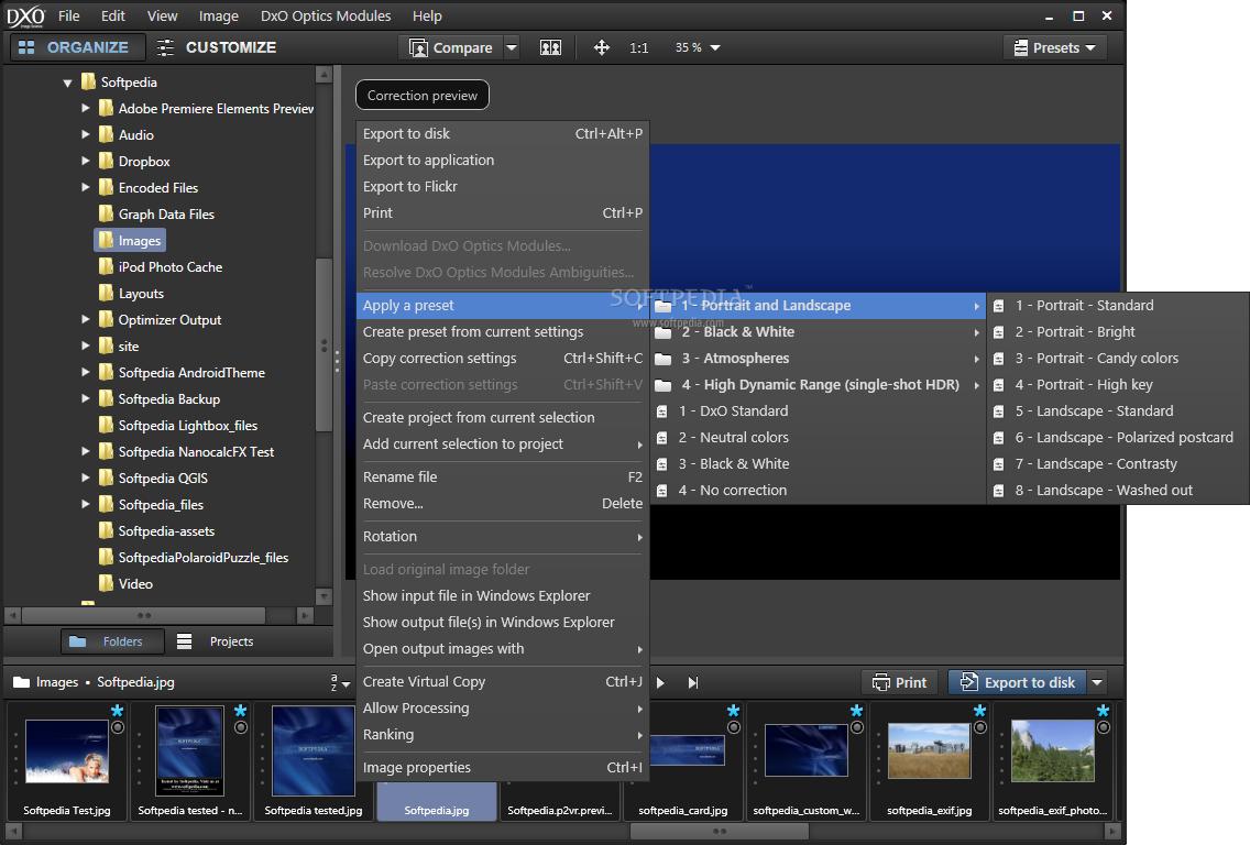 DxO Optics Pro 2 نرم افزار افزایش کیفیت تصاویر DxO Optics Pro 9 1 2 Build 1661 Elite