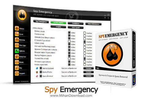 Emergency دانلود نرم افزار ضد جاسوسی Spy Emergency 13 0 905 0