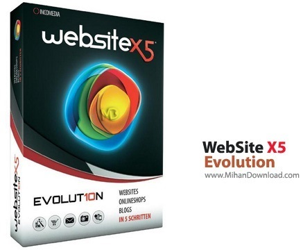 Evolution دانلود Incomedia WebSite X5 Evolution 10.1.12.57