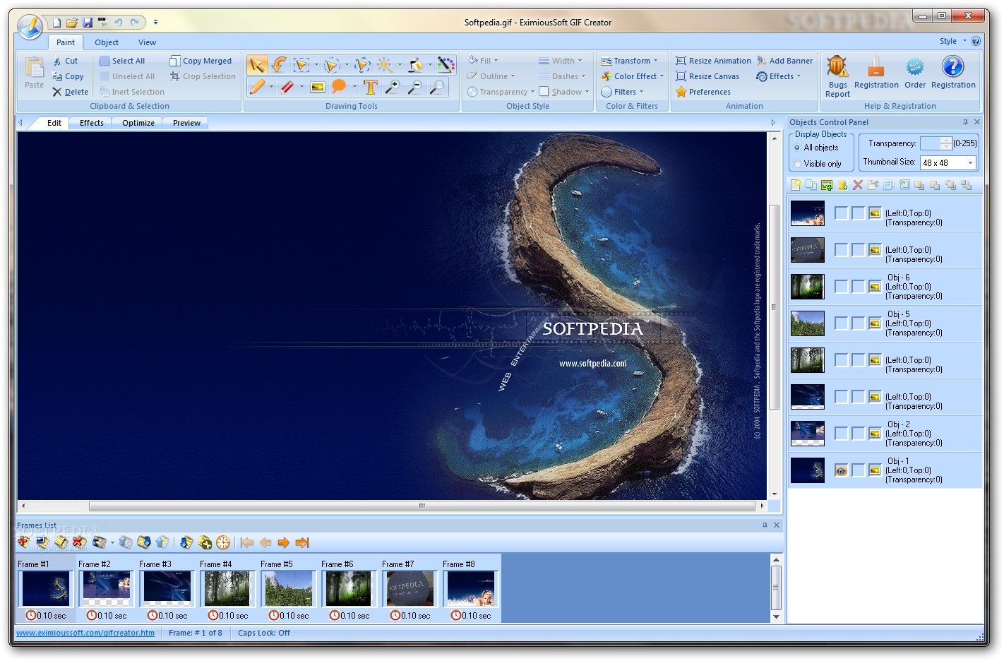 EximiousSoft GIF Creator 1 دانلود EximiousSoft GIF Creator 7 21 نرم افزار طراحی تصاویر متحرک GIF