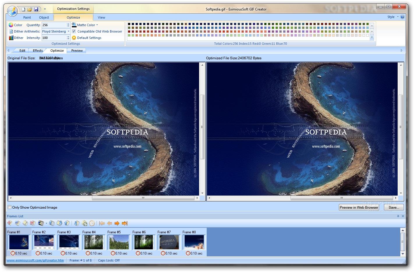 EximiousSoft GIF Creator 3 دانلود EximiousSoft GIF Creator 7 21 نرم افزار طراحی تصاویر متحرک GIF