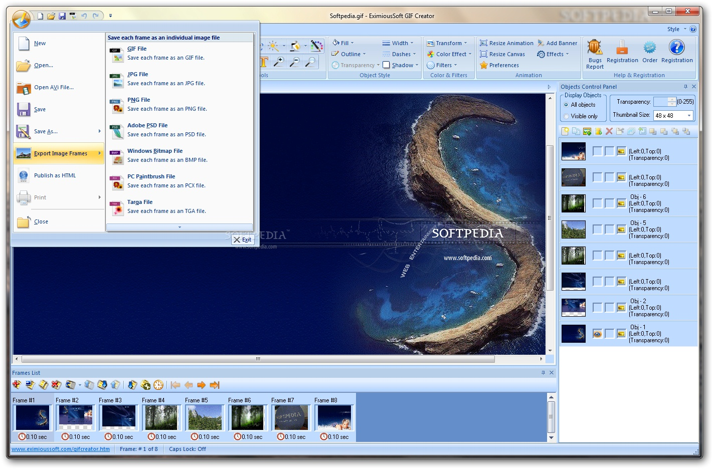 EximiousSoft GIF Creator 6 دانلود EximiousSoft GIF Creator 7 21 نرم افزار طراحی تصاویر متحرک GIF