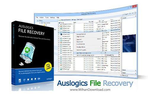 File Recovery نرم افزار بازیابی اطلاعات Auslogics File Recovery 4 5 0 0 Final